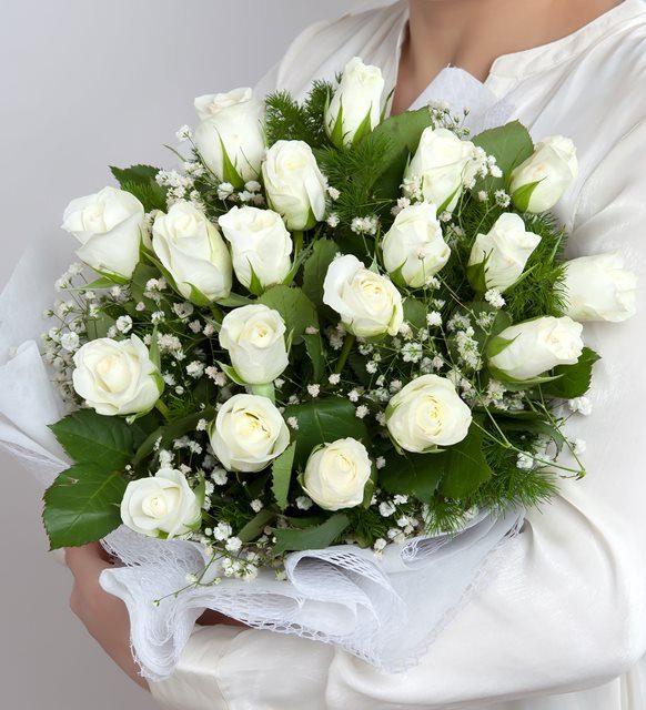 Sonsuz Sevgi 60 Beyaz Gül