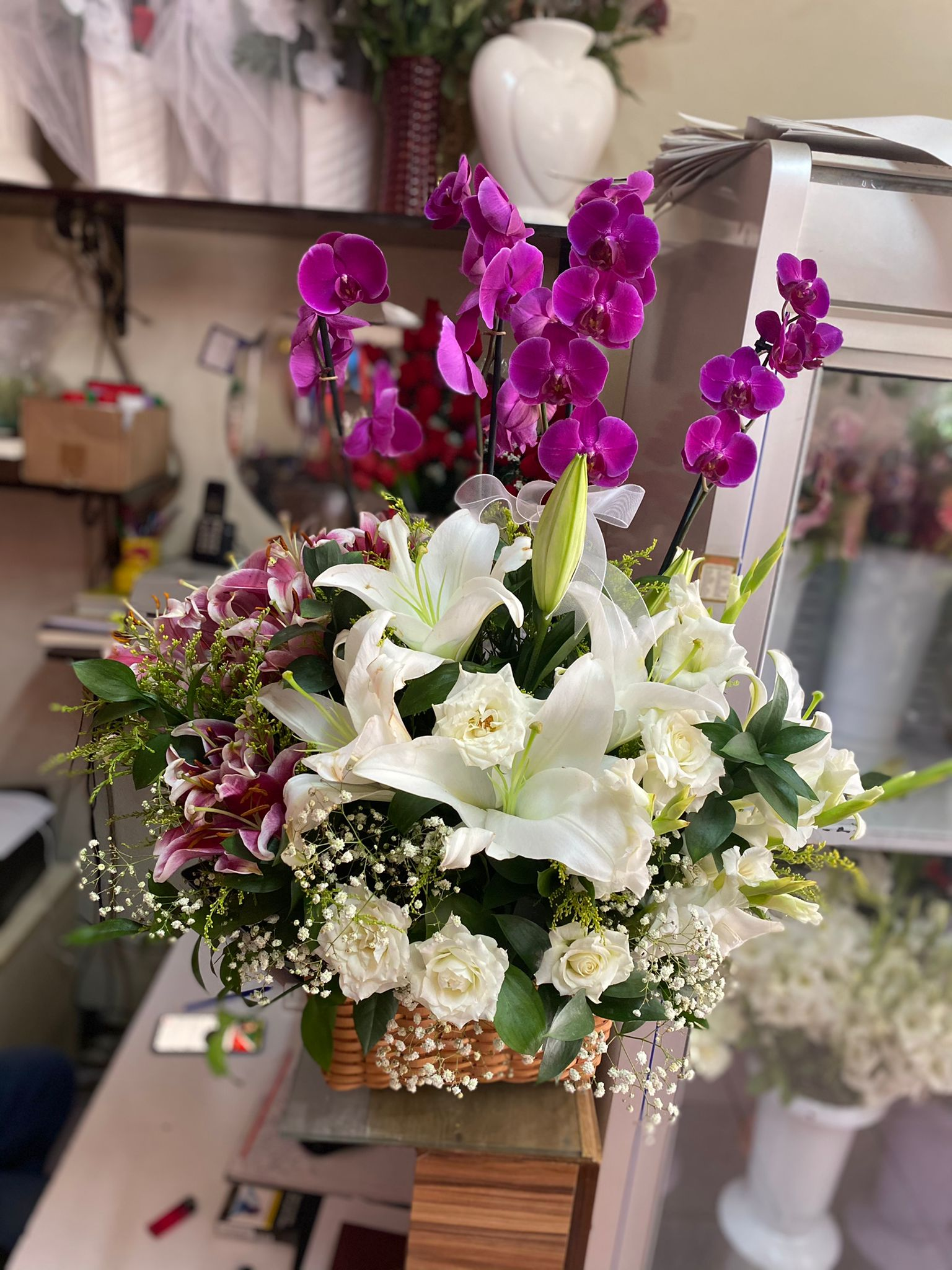 4 dallı orkide arajmanı